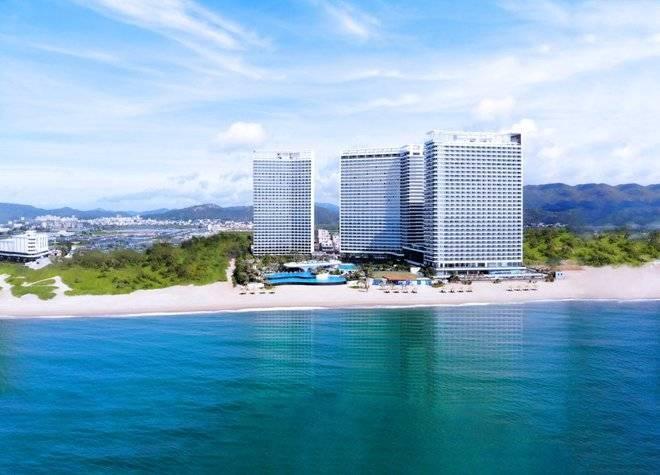 豪华海景房特惠|惠州双月湾檀悦都喜天丽度假酒店畅享无边泳池|含自助晚餐+攀爬乐园